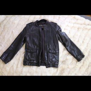 NWOT MADEWELL black leather jacket